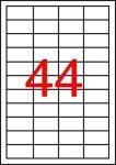 APLI Etikett, univerzális, 48,5x25,4 mm, APLI, 440 etikett/csomag