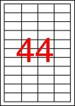 APLI Etikett, 48,5x25,4 mm, poliészter, időjárásálló, matt, APLI, áttetsző, 4400 etikett/csomag