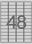 APLI Etikett, 45,7x21,2 mm, poliészter, időjárásálló, kerekített sarkú, APLI, ezüst, 4800 etikett/csomag