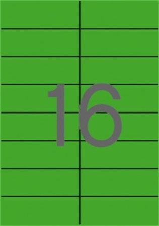 APLI Etikett, 105x37 mm, színes, APLI, zöld 1600 etikett/csomag