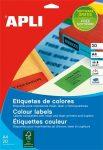 APLI Etikett, 105x148 mm, színes, APLI, kék, 80 etikett/csomag