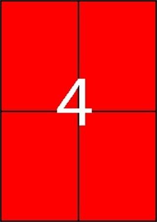 APLI Etikett, 105x148 mm, színes, APLI, piros, 80 etikett/csomag