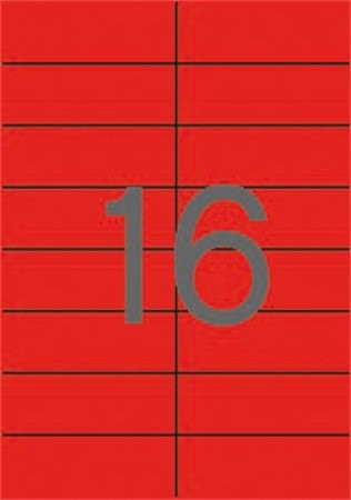 APLI Etikett, 105x37 mm, színes, APLI, piros, 320 etikett/csomag