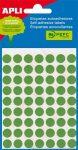 APLI Etikett, 8 mm kör, kézzel írható, színes, APLI, zöld, 288 etikett/csomag