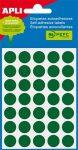 APLI Etikett, 13 mm kör, kézzel írható, színes, APLI, zöld 175 etikett/csomag