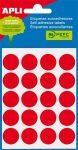 APLI Etikett, 19 mm kör, kézzel írható, színes, APLI, piros, 100 etikett/csomag