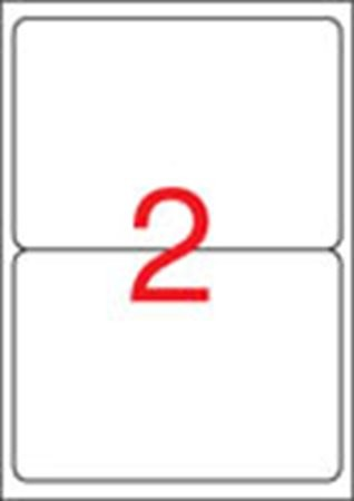 APLI Etikett, univerzális, 199,6x144,5 mm, kerekített sarkú, APLI, 200 etikett/csomag