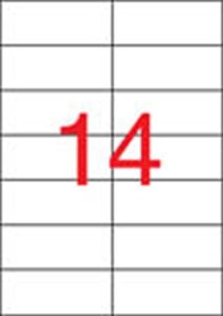 APLI Etikett, lézernyomtatókhoz, 105x42,4 mm, APLI, 3500 etikett/csomag