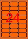 APLI Etikett, 64x33,9 mm, színes, kerekített sarkú, APLI, neon narancs, 480 etikett/csomag