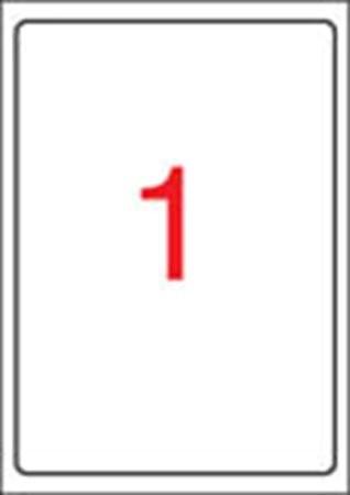 APLI Etikett, tintasugaras nyomtatóhoz, 199,6 x 289,1 mm, fényes, fotóminőségű, APLI, 10 etikett/csomag