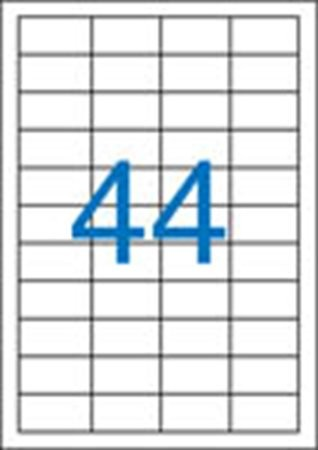 VICTORIA Etikett, univerzális, 48,5x25,4 mm, VICTORIA, 4400 etikett/csomag