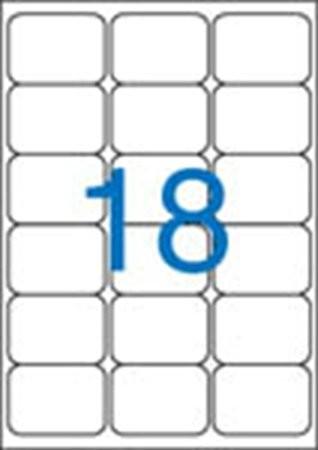 VICTORIA Etikett, univerzális, 63,5x46,6 mm, kerekített sarkú, VICTORIA, 1800 etikett/csomag
