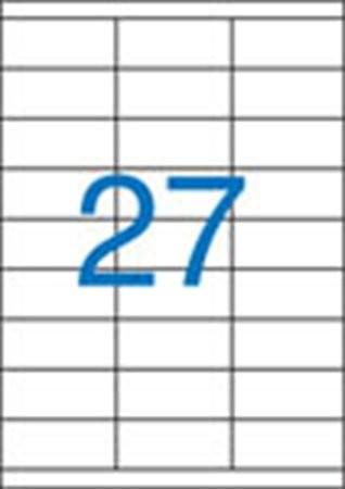 VICTORIA Etikett, univerzális, 70x30 mm, VICTORIA, 2700 etikett/csomag