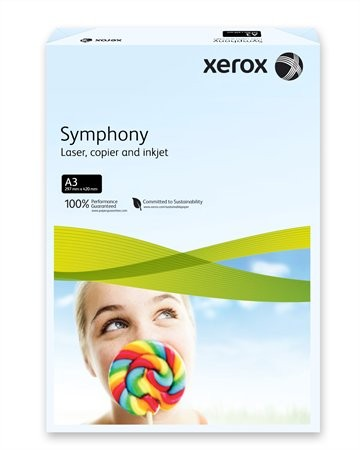 """Másolópapír, színes, A3, 80 g, XEROX """"Symphony"""", világoskék (pasztell)"""