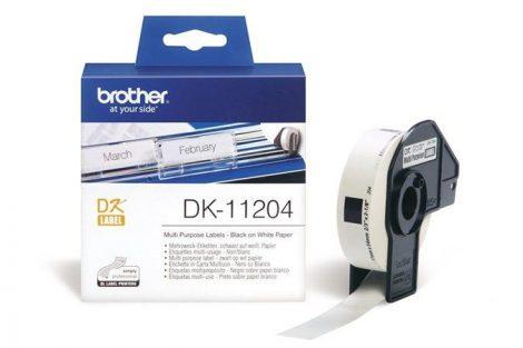 BROTHER Papír címke, QL nyomtatóhoz, 17 x 54 mm, BROTHER