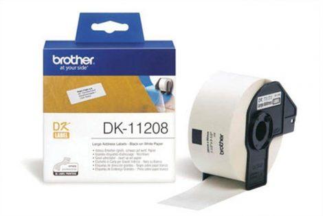 BROTHER Papír címke, QL nyomtatóhoz, 38 x 90 mm, BROTHER