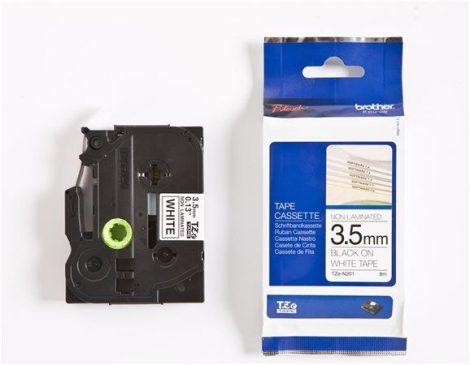 BROTHER Feliratozógép szalag, matt, 3,5 mm x 8 m, BROTHER, fehér-fekete