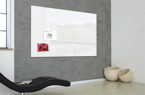 """SIGEL Mágneses üveg tábla, 120x180 cm, SIGEL """"Artverum® """", fehér"""