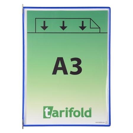 TARIFOLD Bemutatótábla, A3, acélkeretes, álló, TARIFOLD, kék
