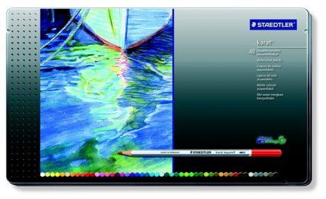 """STAEDTLER Akvarell ceruza készlet, fém doboz, STAEDTLER """"Karat"""", 48 különböző szín"""