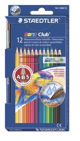 """STAEDTLER Akvarell ceruza készlet, ecsettel, STAEDTLER """"Noris Club"""", 12 különböző szín"""