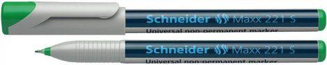 """SCHNEIDER Alkoholmentes marker, OHP, 0,4 mm, SCHNEIDER """"Maxx 221 S"""", zöld"""