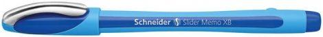 "Golyóstoll, 0,7 mm, kupakos, SCHNEIDER ""Slider Memo"", kék"