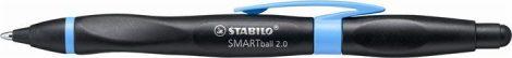 """STABILO Golyóstoll, 0,5 mm, nyomógombos, fekete-kék tolltest, jobbkezes, STABILO """"Smartball 2.0"""", kék"""