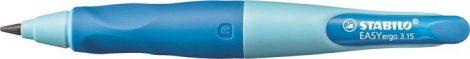 """STABILO Nyomósirón, 3,15 mm, jobbkezes, ajándék hegyezővel, STABILO """"EasyErgo Start"""", kék"""