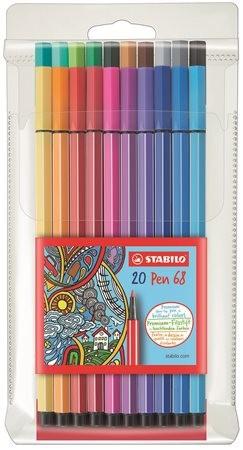 """STABILO Rostirón készlet, 1 mm, STABILO """"Pen 68"""", 20 különböző szín"""