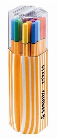 """STABILO Tűfilc készlet, 0,4 mm, STABILO """"Point 88 Twin Pack"""", 20 különböző szín"""