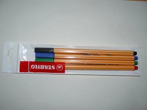 """STABILO Tűfilc készlet, 0,4 mm, STABILO """"Point 88"""", 4 különböző szín"""