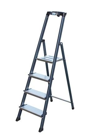 """KRAUSE Állólétra, 4 lépcsőfokos, eloxált, KRAUSE """"Securo"""""""