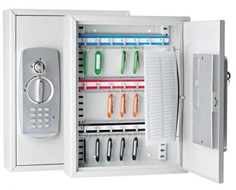 WEDO Zárható kulcszerkrény elektronikus zárral, 21 db-os WEDO