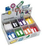 WEDO Kulcscímke display 200 db, S -akasztóval, WEDO, 8 különböző színben