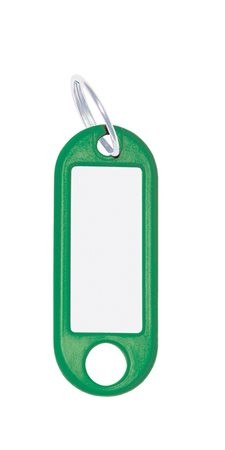 WEDO Kulcscímke, 10 db, WEDO zöld