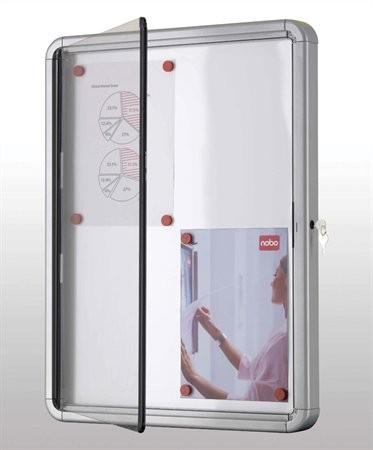 NOBO 6 x A4 beltéri fali vitrin mágneses hátlappal