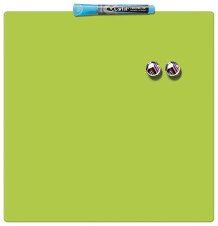 Üzenőtábla, mágneses, írható, zöld, 36x36 cm, REXEL