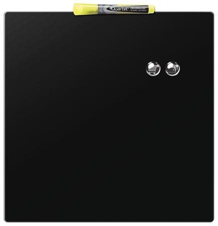 Üzenőtábla, mágneses, írható, fekete, 36x36 cm, REXEL
