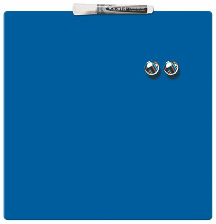 Üzenőtábla, mágneses, írható, kék, 36x36 cm, REXEL