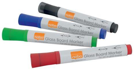 Üvegtábla marker, NOBO, 4 különböző szín