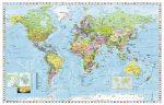 Föld országai fémléces falitérkép