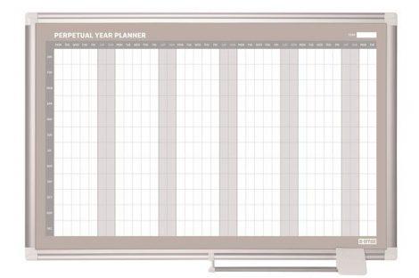 VICTORIA Éves tervezőtábla, mágneses, 90x60 cm, VICTORIA