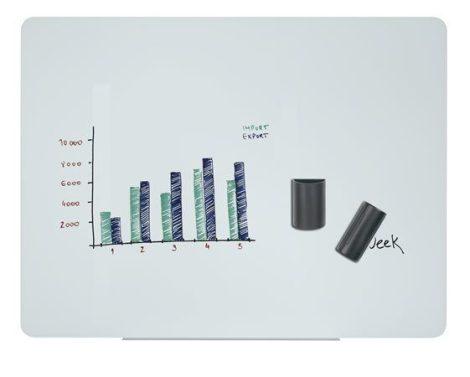 VICTORIA Mágneses üvegtábla, 120x90cm, VICTORIA, fehér