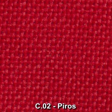 C.02 - Piros szövet irodai székekhez