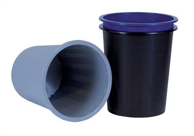 DONAU Papírkosár, 14 liter, DONAU, fekete