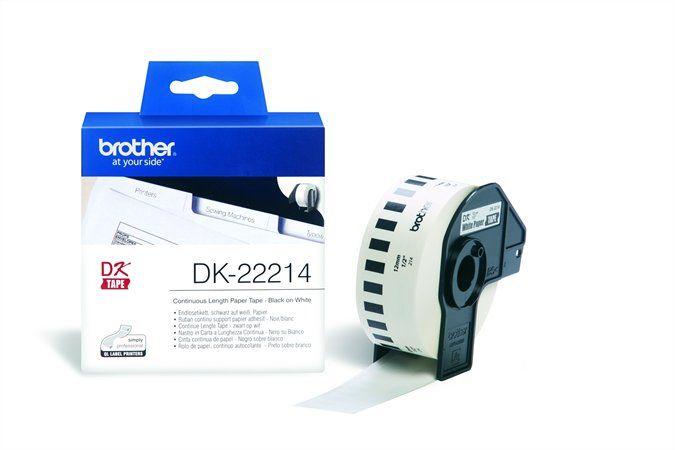 BROTHER Papírszalag, QL nyomtatóhoz, 12 mm x 30,48 m, BROTHER