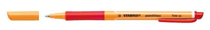"STABILO Rollertoll, 0,5 mm, STABILO ""PointVisco"", piros"