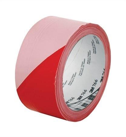 3M Ipari jelzőszalag, 50mm x 33m, 3M, piros-fehér