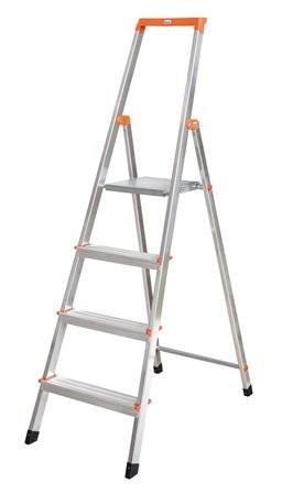 "KRAUSE Állólétra, 4 lépcsőfokos, alumínium, KRAUSE ""Solidy"""
